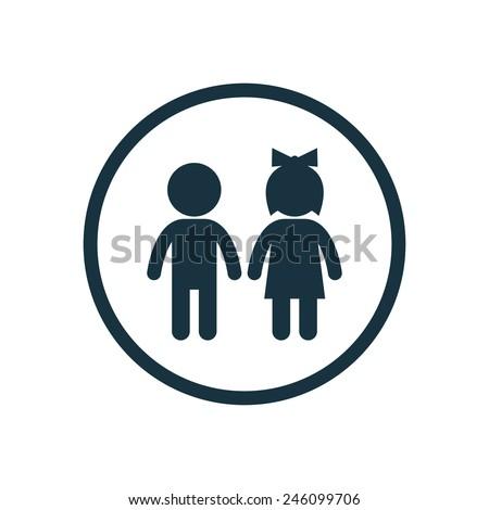 Mannelijke vrouwelijke geslacht borden kind teken Stockfoto © tuulijumala