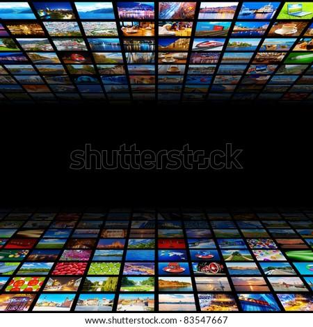 ストックフォト: 3次元の図 · ダウンロード · インターネット · メディア · コンテンツ · 電話