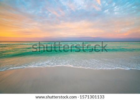 Sunset on the beach Stock photo © jonnysek