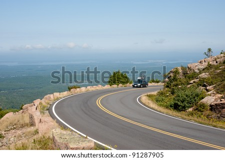 Cadillac Mountain drive in Acadia National Park, Maine in a clea Stock photo © inarts