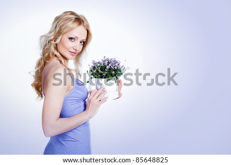Woman in lond dress isolated on white Stock photo © Elnur