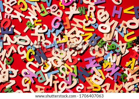 İngilizce alfabe ahşap soyut dizayn arka plan Stok fotoğraf © Nejron