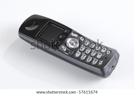 Wireless phone. Cordless phone with reflection on black gradient Stock photo © stevanovicigor