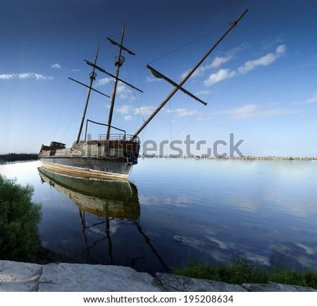 Hajó folyó Ontario Kanada fém kék Stock fotó © bmonteny