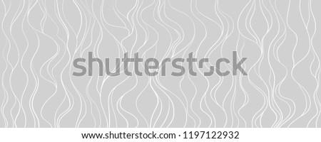 repeating ornament of many gray horizontal wavy lines on dark gr stock photo © zebra-finch