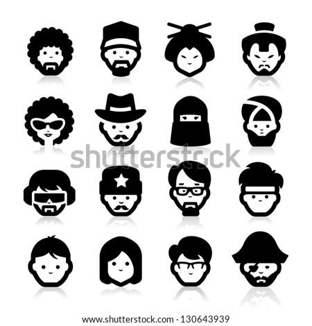 vector pirate icons set 2 stock photo © dashadima