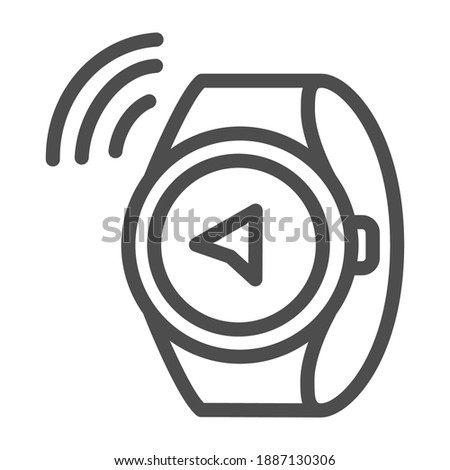 Navigatie gps smart horloge eenvoudige icon Stockfoto © tkacchuk