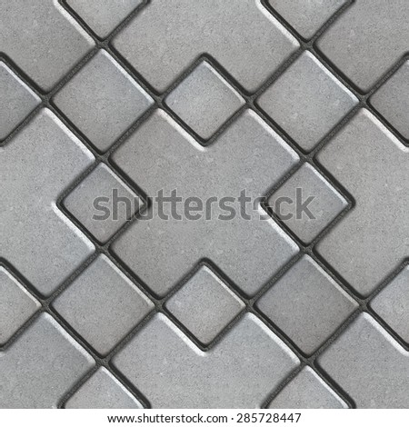 Gray Paving  Slabs as Large Rhombuses with a Cross in the Center. Stock photo © tashatuvango