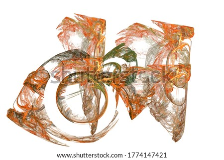 Fractal ilustración broche plata precioso piedras Foto stock © yurkina