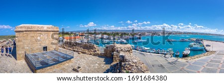 Boats at Paphos harbor with the castle on the background. Cyprus Stock photo © Kirill_M