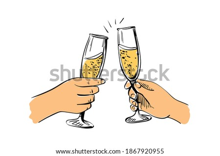 man and woman clink glasses splashes of wine from glasses silhouettes against sea stock photo © paha_l