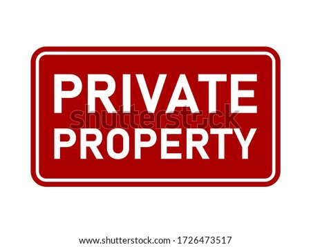 Private property sign Stock photo © benkrut