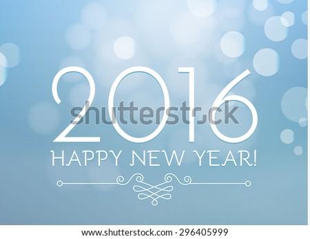 Happy new year 2016 soyut renkli bokeh Stok fotoğraf © chatchai5172