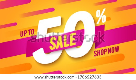 50 percent off discount super sale and special offer half price stock photo © marinini