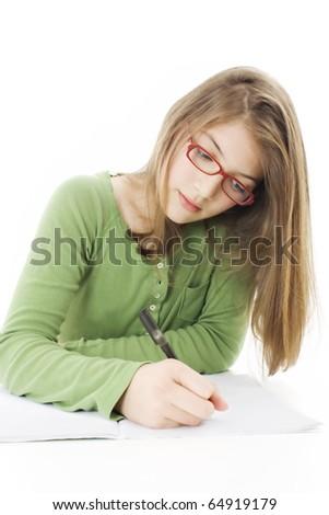 сидят · студию · девушки · цвета · подростку - Сток-фото © deandrobot