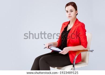composite image of portrait of a gorgeous businesswoman posing w stock photo © wavebreak_media