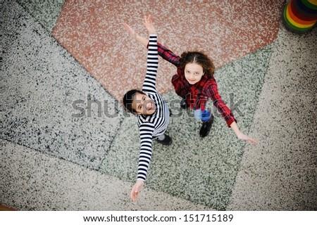 cute · naar · microscoop · school · kind - stockfoto © zurijeta