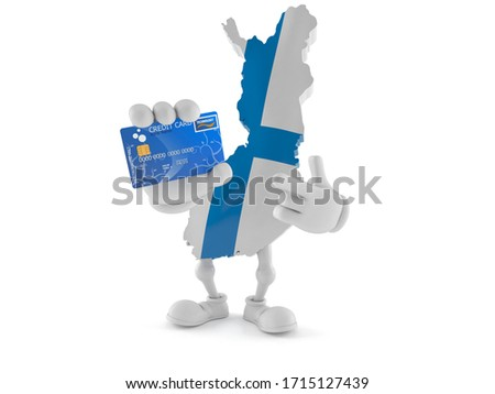 credit card with finland flag background for bank presentations and business isolated on white stock photo © tkacchuk