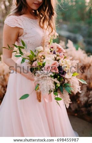 mooie · brunette · bruid · bruiloft · portret - stockfoto © Victoria_Andreas