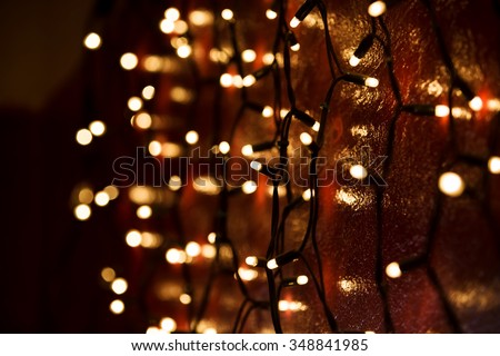 Navidad luces luz Foto stock © neirfy