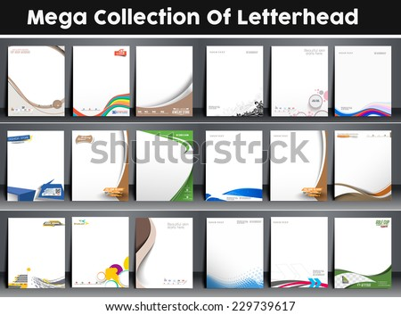 business letterhead stationary template vector design illustrati Stock photo © SArts