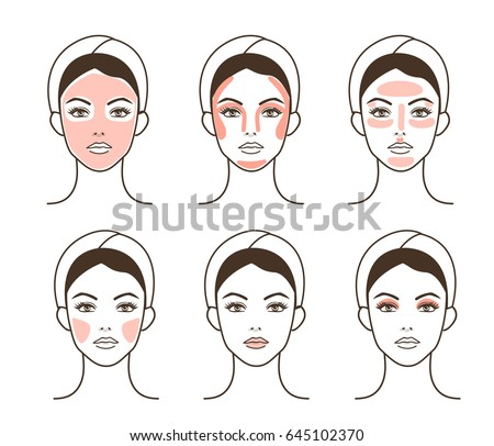 Basic women skincare routine steps. Facial care vector infographic illustration isolated on white ba stock photo © maia3000