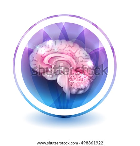 Brain sign treatment, round shape colorful overlay flower petals stock photo © Tefi
