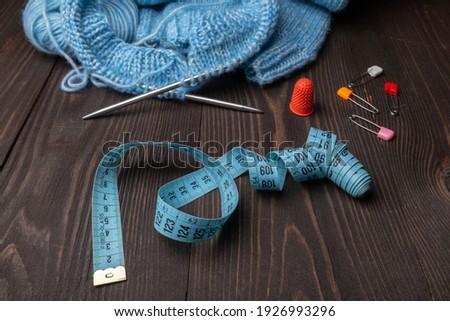 Fita métrica colorido fio escuro Foto stock © Yatsenko
