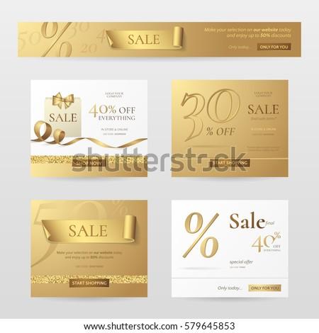 Elegante venta banner vale plantilla de diseño ofrecer Foto stock © SArts