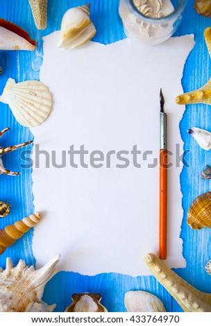 星 · 魚 · 写真 · 木製 · 紙 · 木材 - ストックフォト © yatsenko