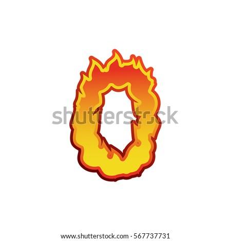 Сток-фото: числа · огня · пламя · шрифт · нулевой · татуировка
