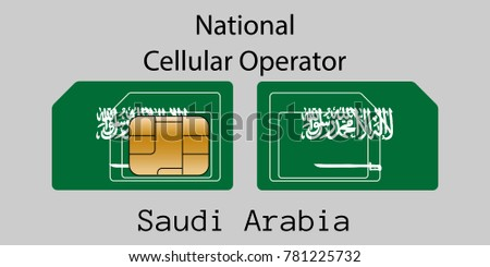 Saudi mobiele exploitant kaart vlag abstract Stockfoto © Leo_Edition