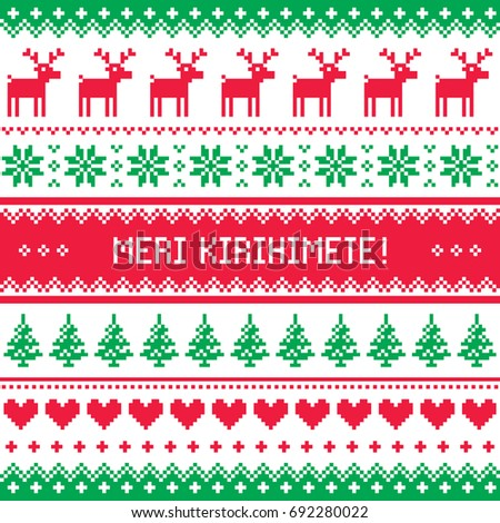kerstmis · naadloos · Rood · patroon · herten - stockfoto © redkoala