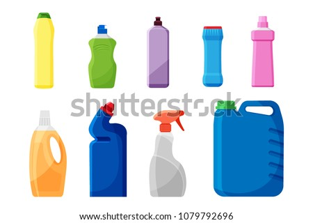 cleaning product or laundry detergent packaging design concept t Stock photo © SArts