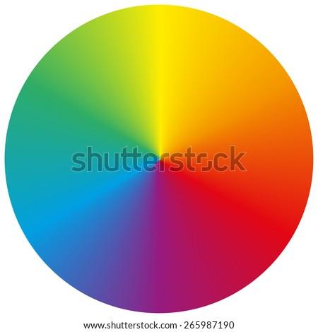 Сток-фото: цвета · колесо · вектора · классический · палитра · изолированный