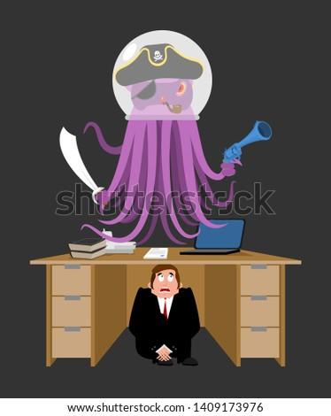 бизнесмен страшно таблице чужеродные испуганный деловой человек Сток-фото © popaukropa