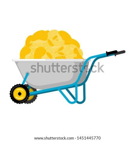 Talicska burgonyaszirom sült krumpli kert munka Stock fotó © popaukropa