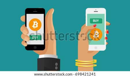 Scambio bitcoin valuta borsa borsa segno Foto d'archivio © MaryValery