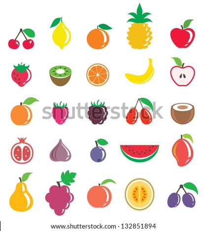 セット 果物 イチゴ ラズベリー 桜 ストックフォト © orensila
