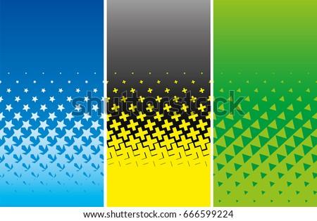 Simple medios tonos volante establecer estrellas cruz Foto stock © almagami