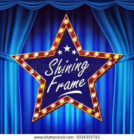 Retro star ilan panosu vektör mavi tiyatro Stok fotoğraf © pikepicture