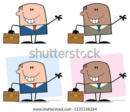 набор афроамериканец деловой человек стороны Сток-фото © NikoDzhi