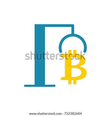 Extraction Bitcoin icon. recovery of Cryptocurrency. vector illu Stock photo © popaukropa