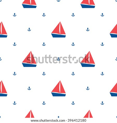 végtelenített · tengerészeti · minta · szett · minták · dizájn · elem - stock fotó © redkoala