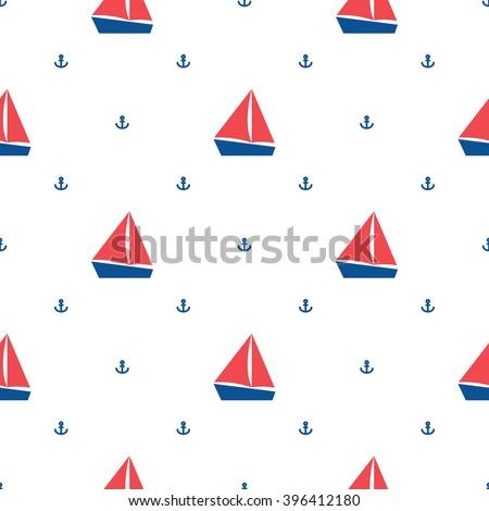 Сток-фото: якорь · вектора · морской · синий · повторяющихся