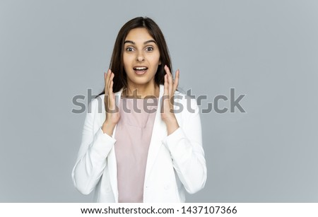shocked young indian businesswoman iondia surprised woman extrem stock photo © nikodzhi