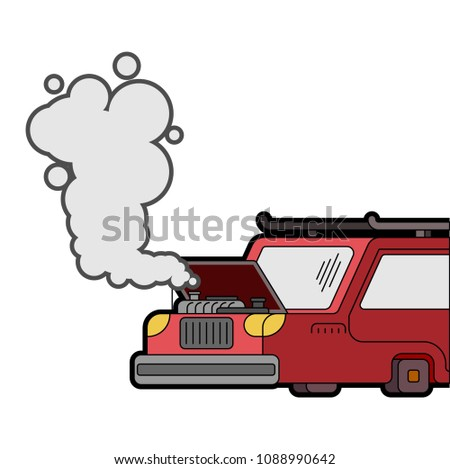 Car broke down. Open hood. Engine started to boil. Vector illust Stock photo © MaryValery