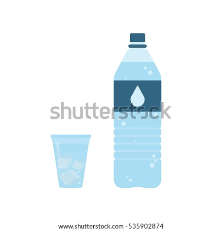Transparent ice cubes with shadow on blue background. Flat lay Stock photo © artjazz