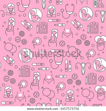 Newborn baby pattern seamless. embryo background vector illustra Stock photo © popaukropa