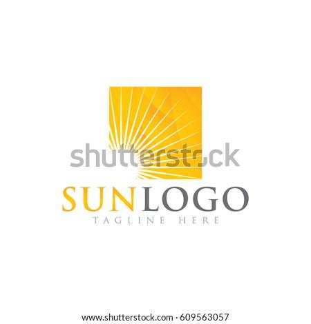 Sonnig logo-Design Element isoliert weiß Textur Stock foto © kyryloff
